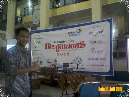 Foto Anjrah di blogilicious 2012 Solo