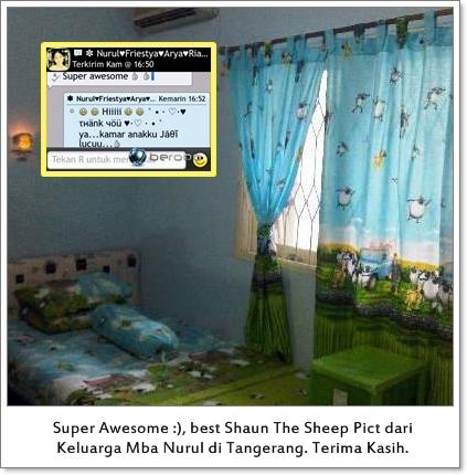 contoh desain kamar anak lucu biru minimalis