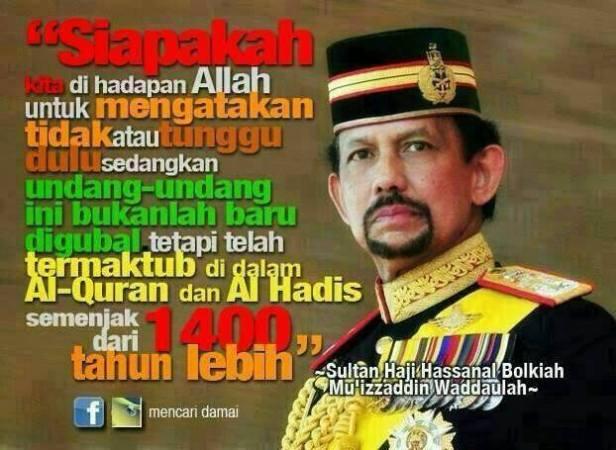 Foto sultan brunei penegakan syariah islam