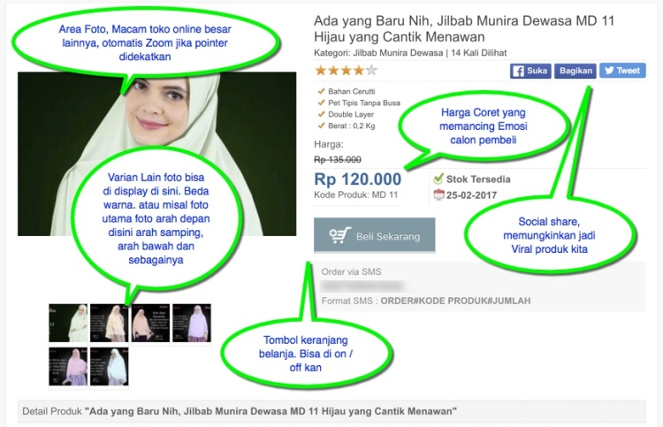 Desain Toko Online WordPress untuk Jualan Jilbab