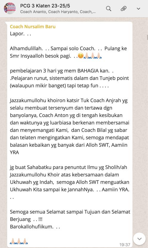 pcg3 testimoni coach salim