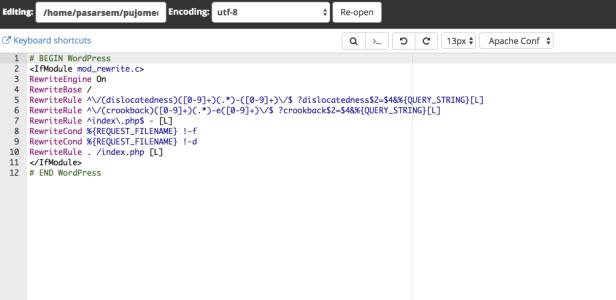 isi dari htacces dirubah isi file htaccess di wordpress